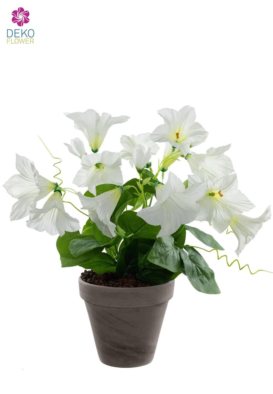 Künstliche Petunien getopft weiß 38 cm