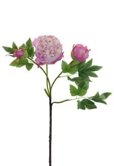 Künstliche Pfingstrosen rosa 78cm 3er-Pack