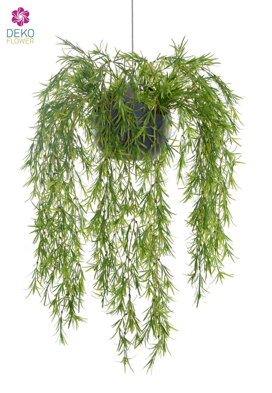 Künstliche Podocarpus Rankpflanze in Ampel 70 cm