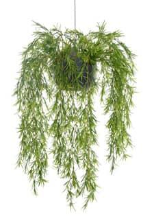 Künstliche Podocarpus Rankpflanze in hängendem Kugeltopf 70 cm