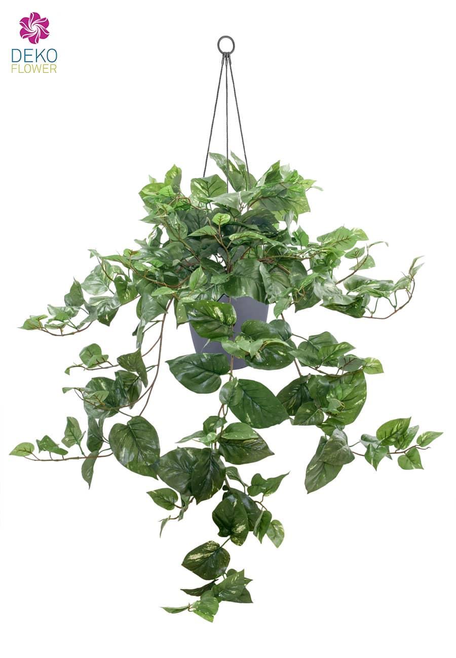 Künstliche Pothos Grünpflanze in Hängeampel 90 cm
