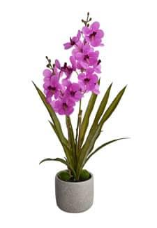 Künstliche »Real Touch« Orchidee 60 cm pink