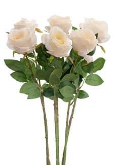 Kunstblumen Rosen apricot 77 cm