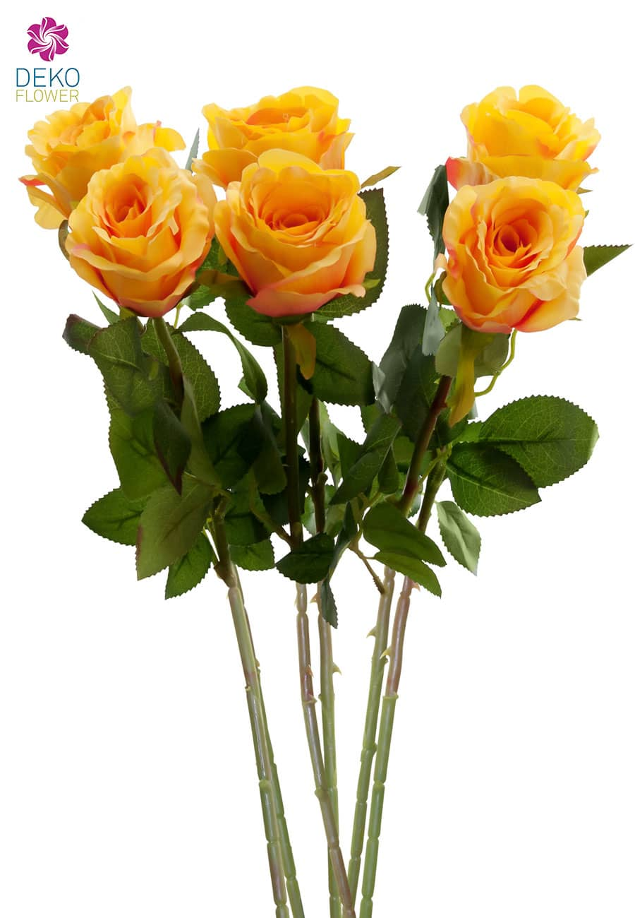 Künstliche Rosen orange 77 cm