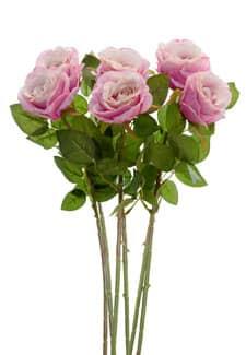 Kunstblumen Rosen pink 77 cm