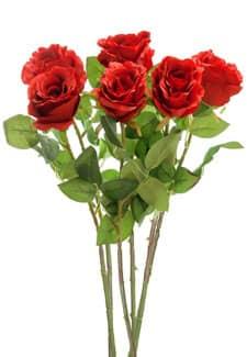 Kunstblumen Rosen rot 77 cm