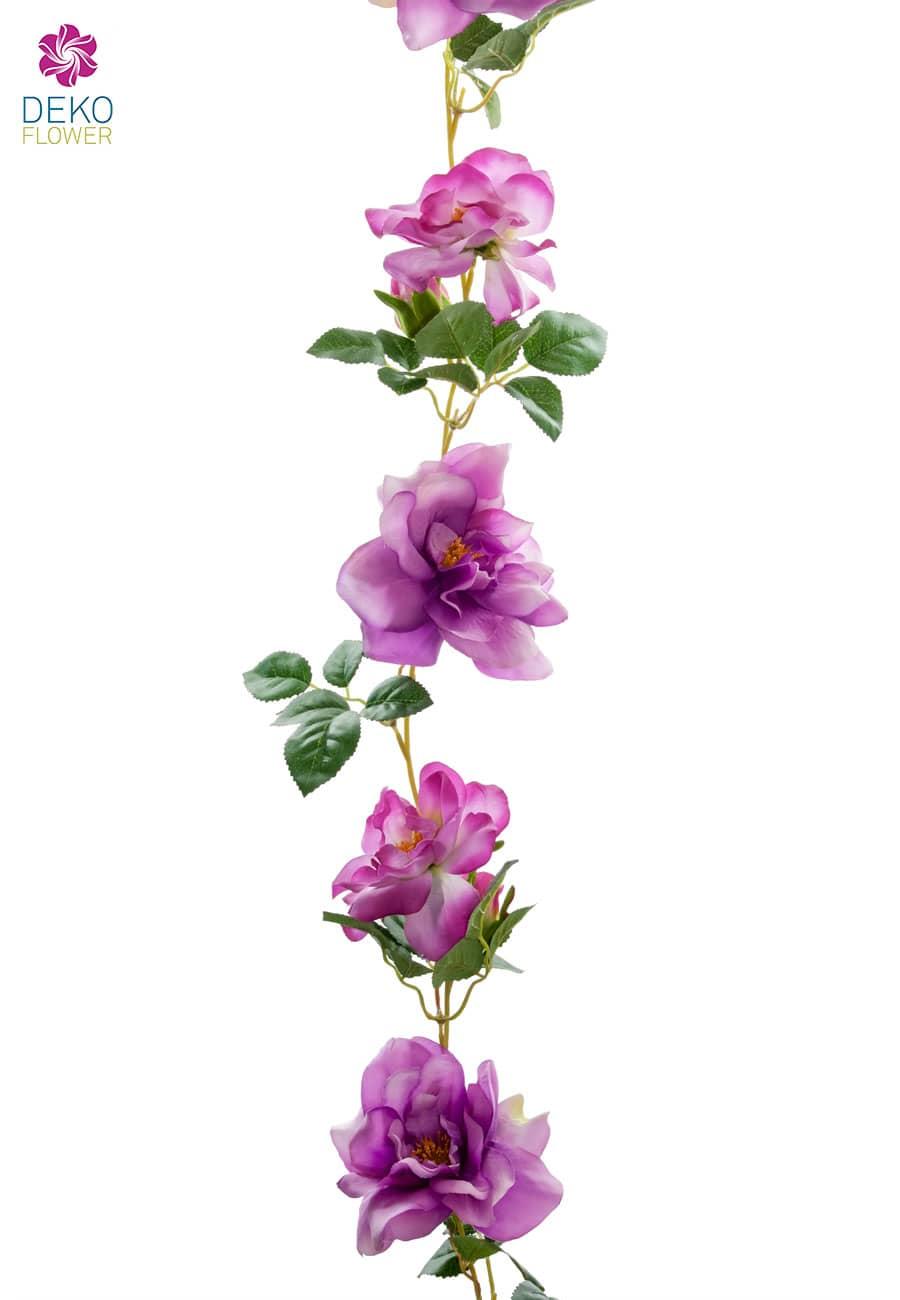 Künstliche Rosengirlande in lavendel 180cm