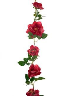 Künstliche Rosengirlande in rot 180cm