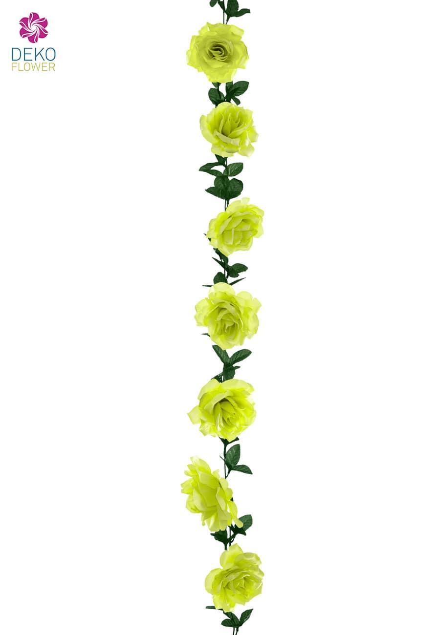 Künstliche Rosengirlande grün 180 cm