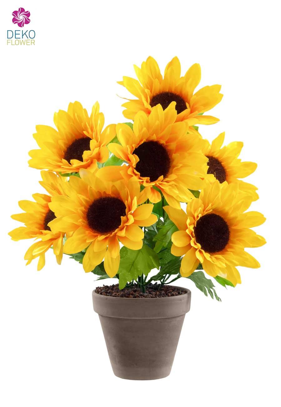 Künstliche Sonnenblumen im Topf 36 cm