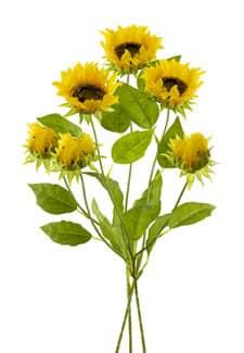 Künstliche Sonnenblumen 68 cm mit Knospe, 3er-Pack