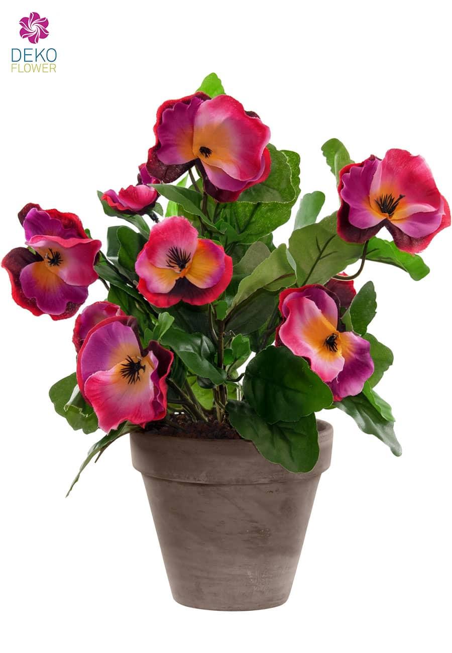 Künstliche Stiefmütterchen pink 29 cm