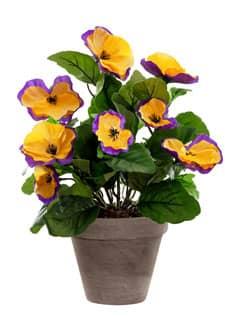 Künstliche Stiefmütterchen violett gelb 29 cm