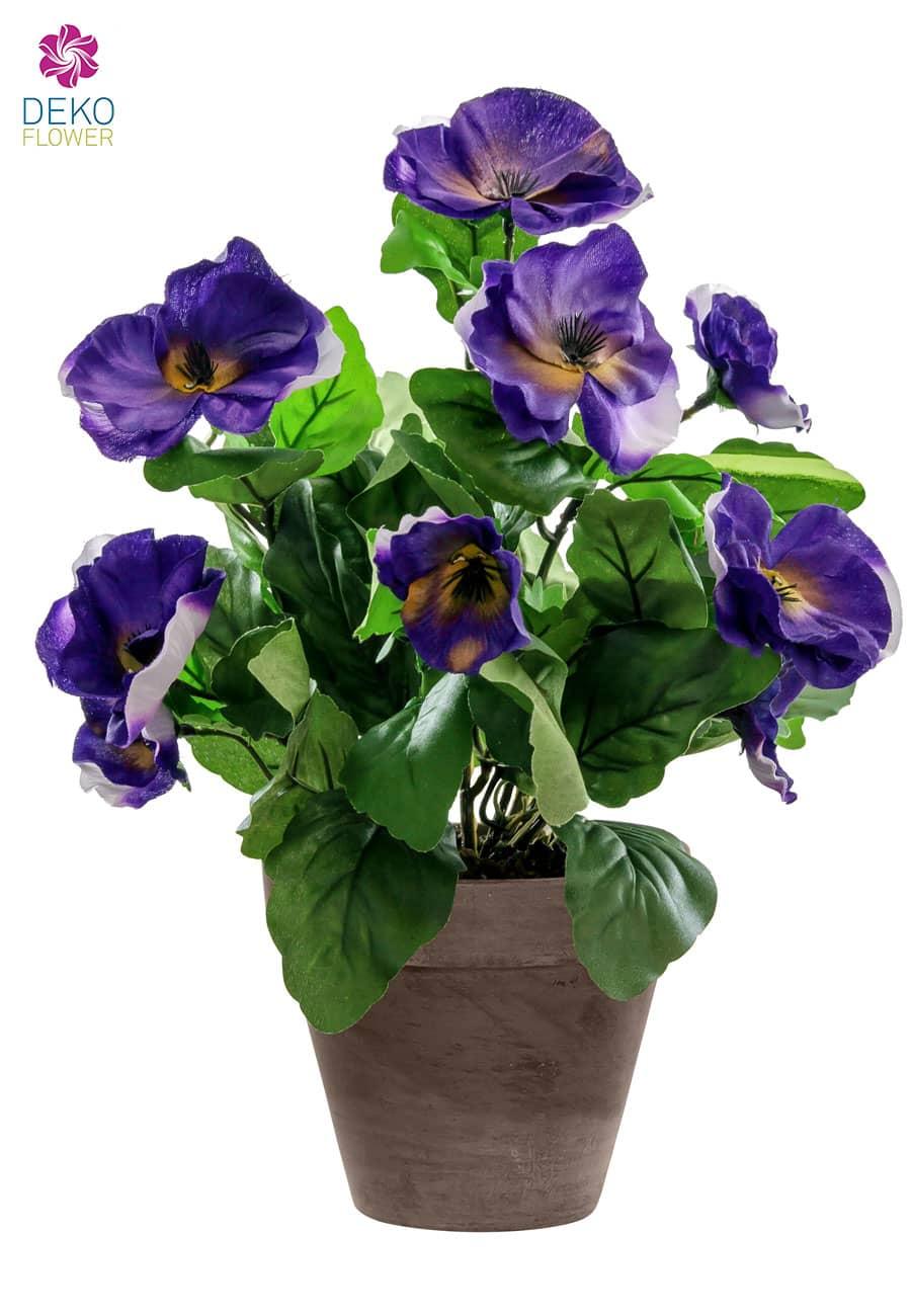 Künstliche Stiefmütterchen violett 29 cm