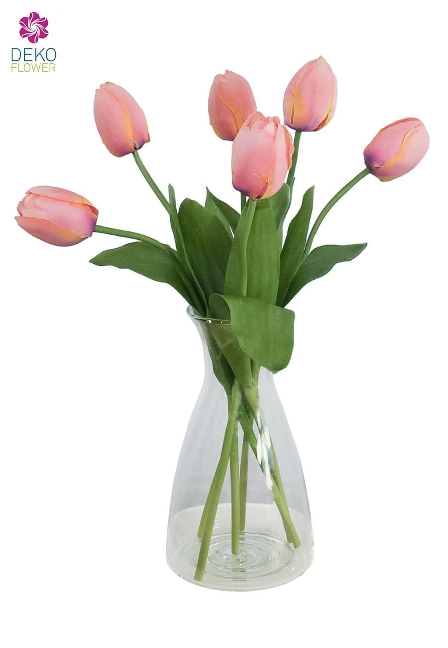 Künstliche Tulpen apricot 41 cm 6er Pack