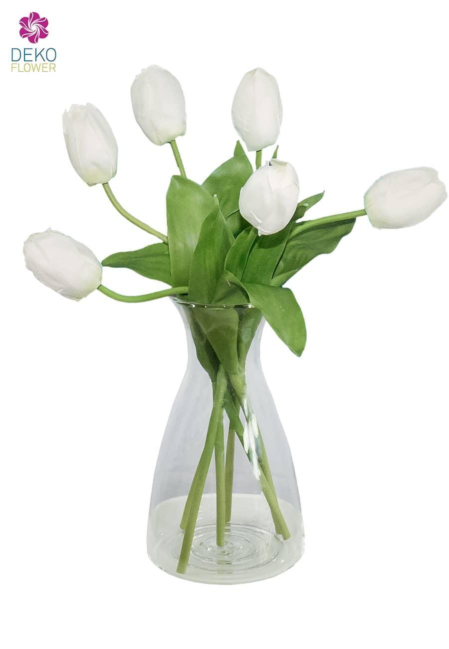 Künstliche Tulpen creme 41 cm 6er Pack