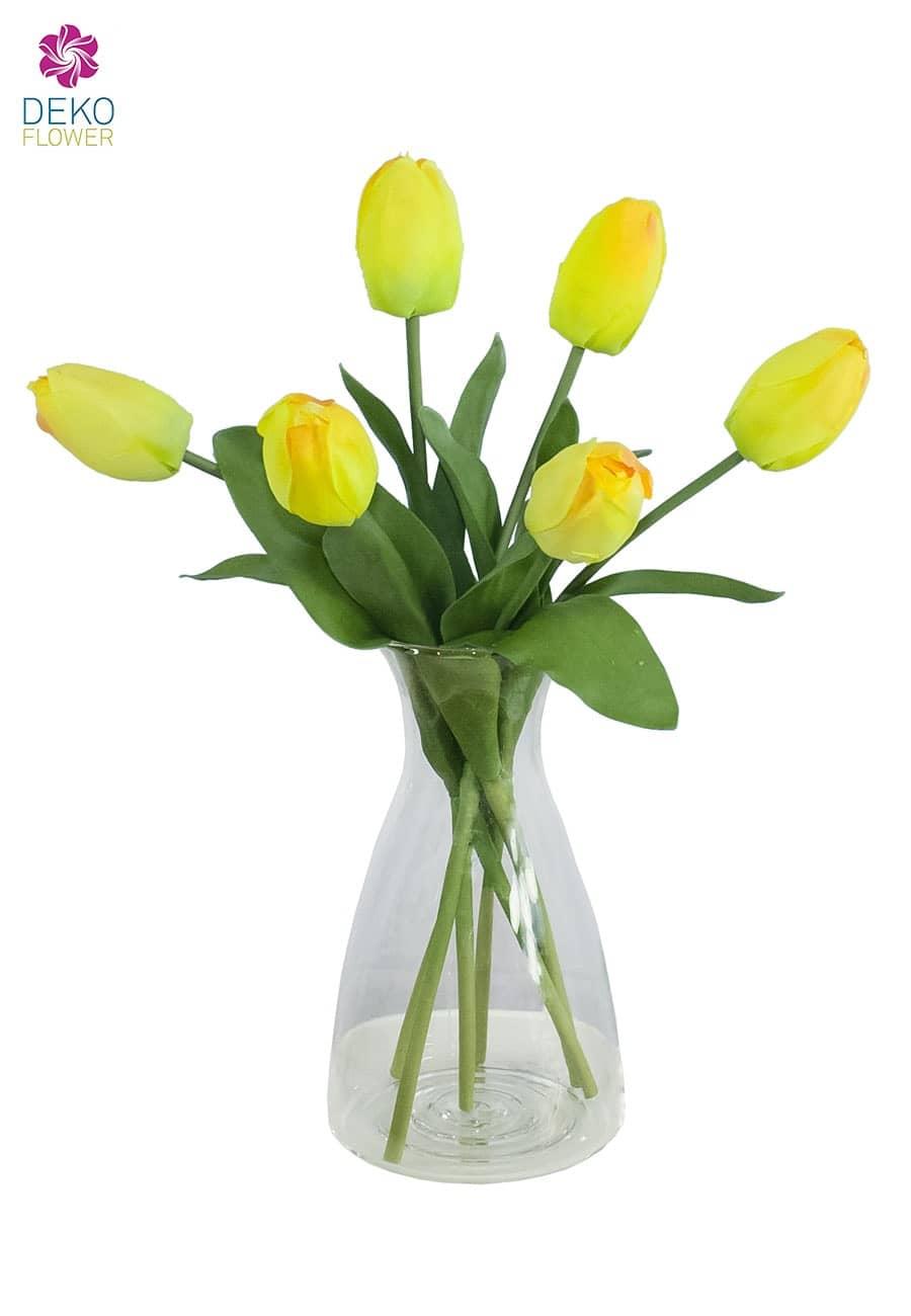 Künstliche Tulpen gelb 41 cm 6er Pack