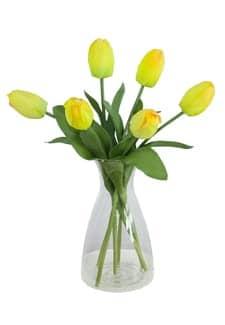Künstliche Tulpe Artemis gelb 41 cm 6er-Pack