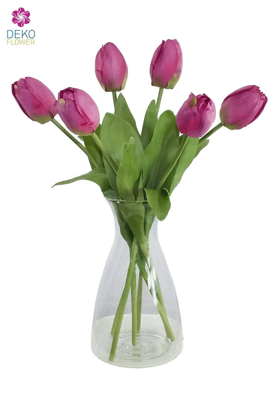 Künstliche Tulpe Artemis violett-pink 41 cm 6er-Pack