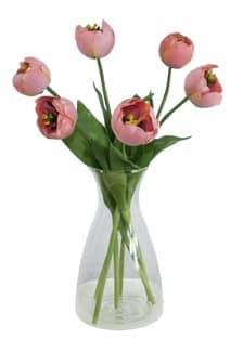 Kunstblumen Tulpen apricot 44 cm 6er Pack