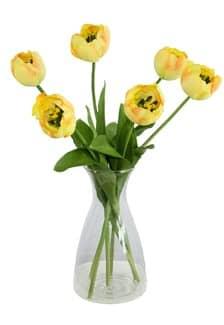Kunstblumen Tulpen gelb 44 cm 6er Pack