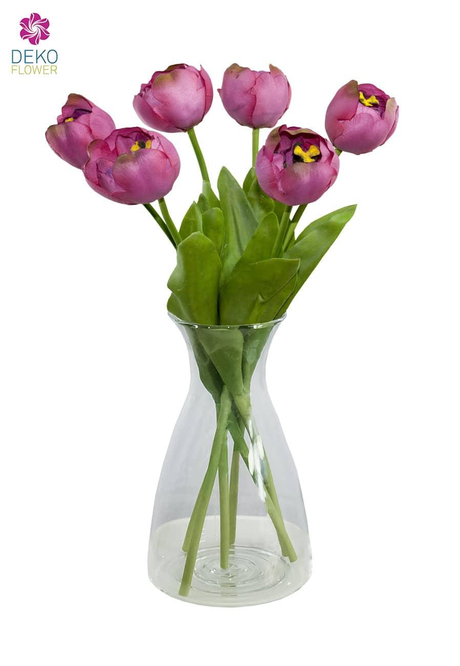 Künstliche Tulpe Aurora violett-pink 44 cm 6er-Pack