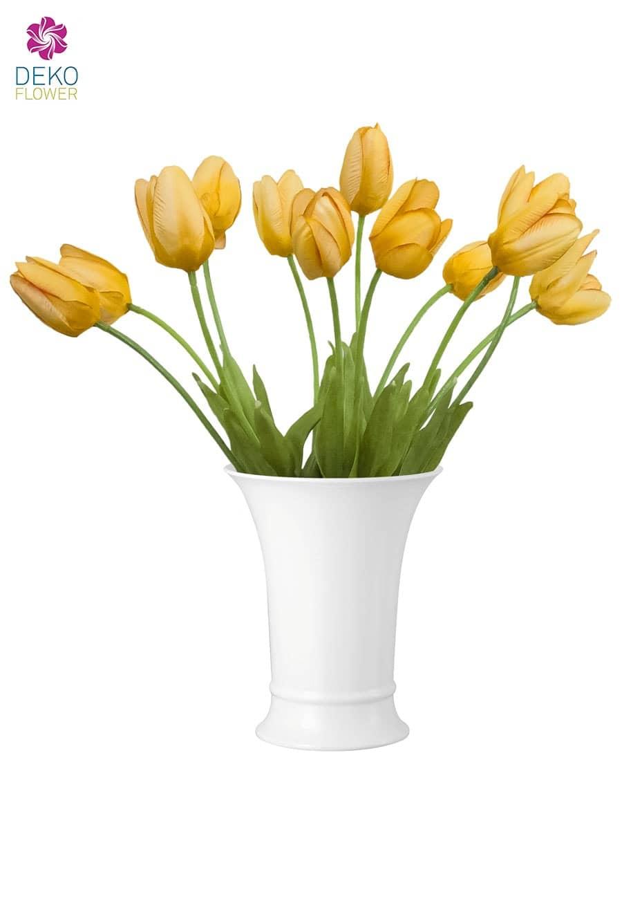 Künstliche Tulpen gelb 28 cm 12er Pack