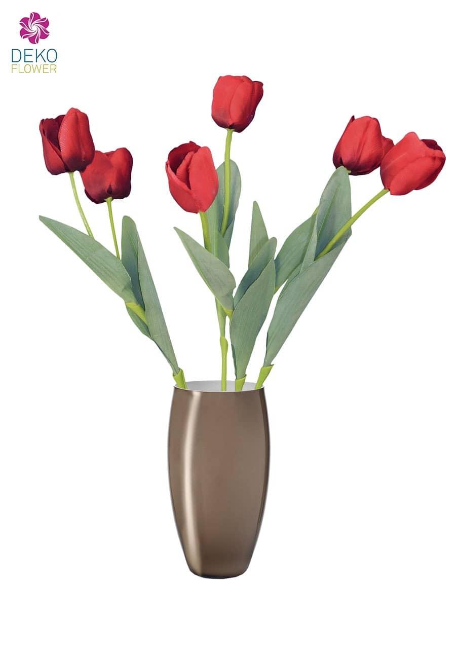 Künstliche Tulpe Luna rot 64 cm 6er-Pack