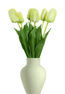 Künstliche Tulpen 6er-Pack 55 cm grün