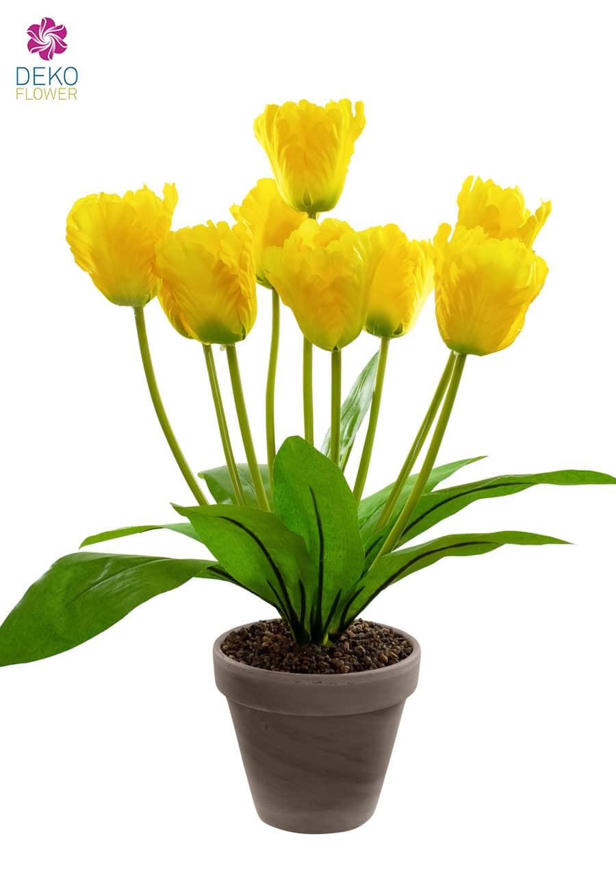Künstliche Tulpen gelb 40 cm