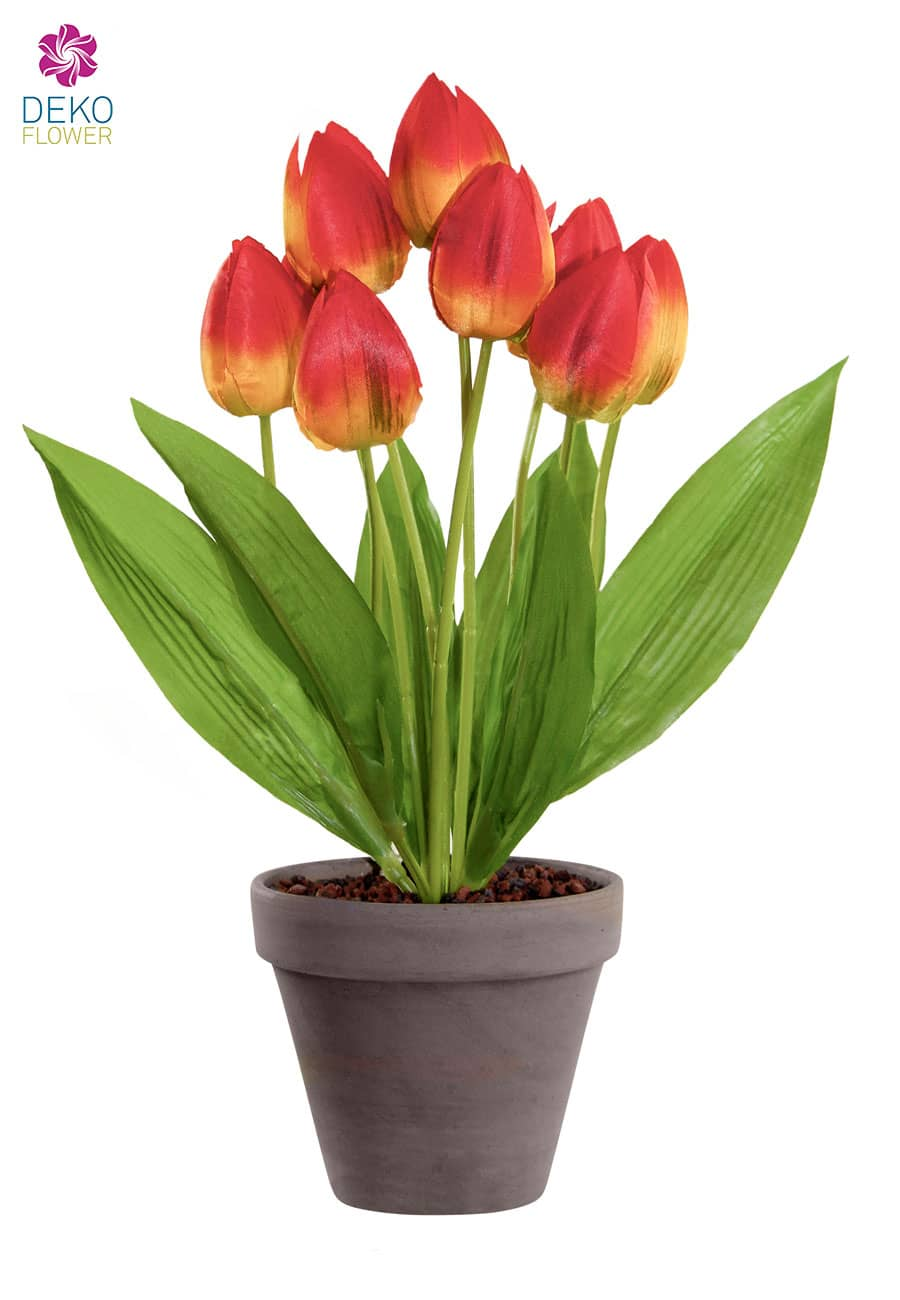 Künstliche Tulpen Pflanze orange 38 cm