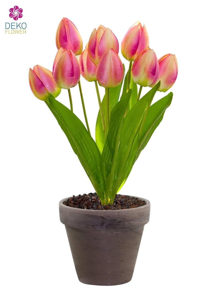Künstliche Tulpen Pflanze pink 38 cm