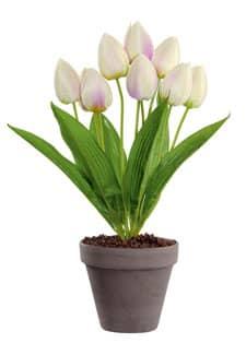 Künstliche Tulpen Pflanze weiß 38 cm