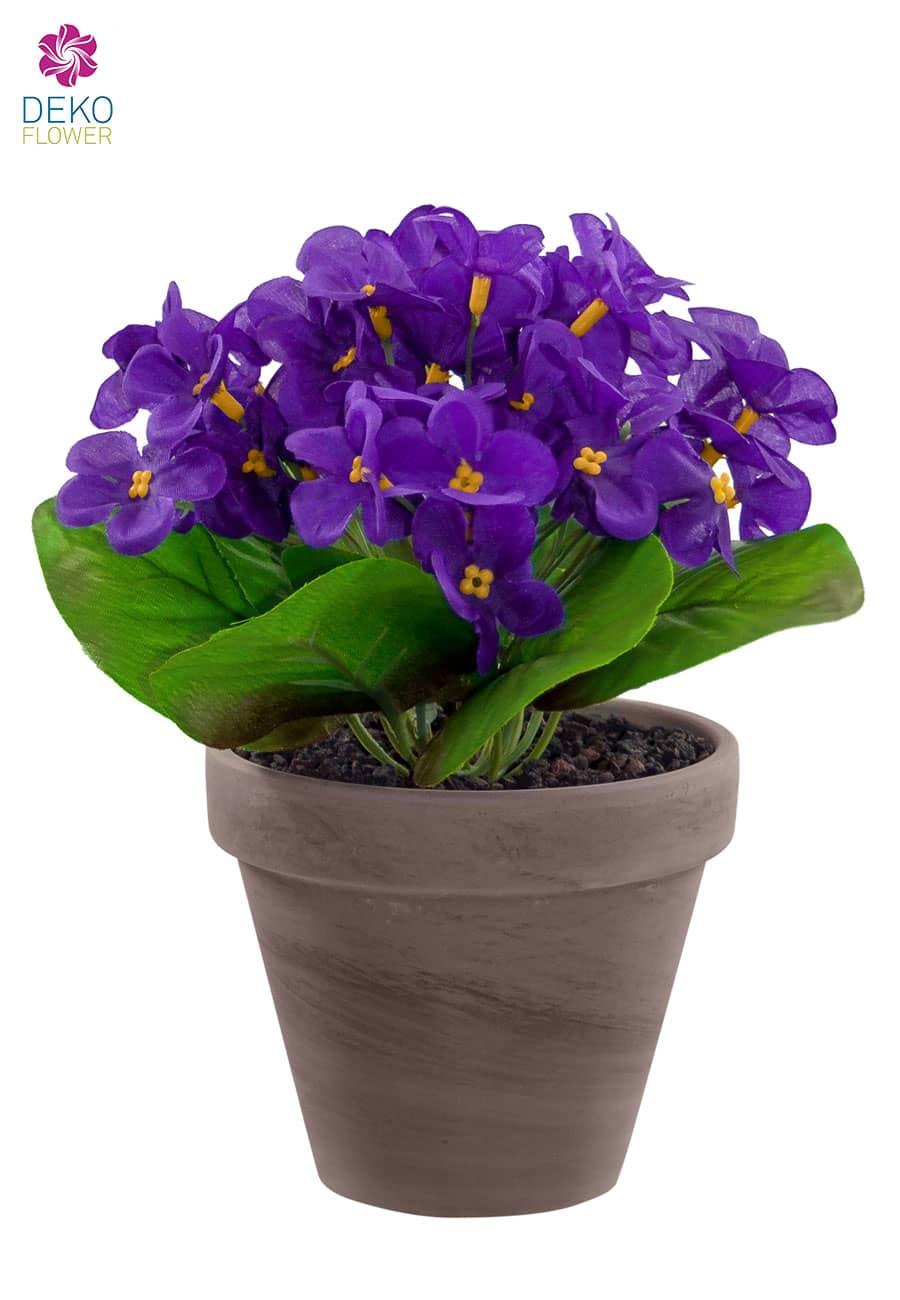 Künstliche Veilchen violett 22 cm