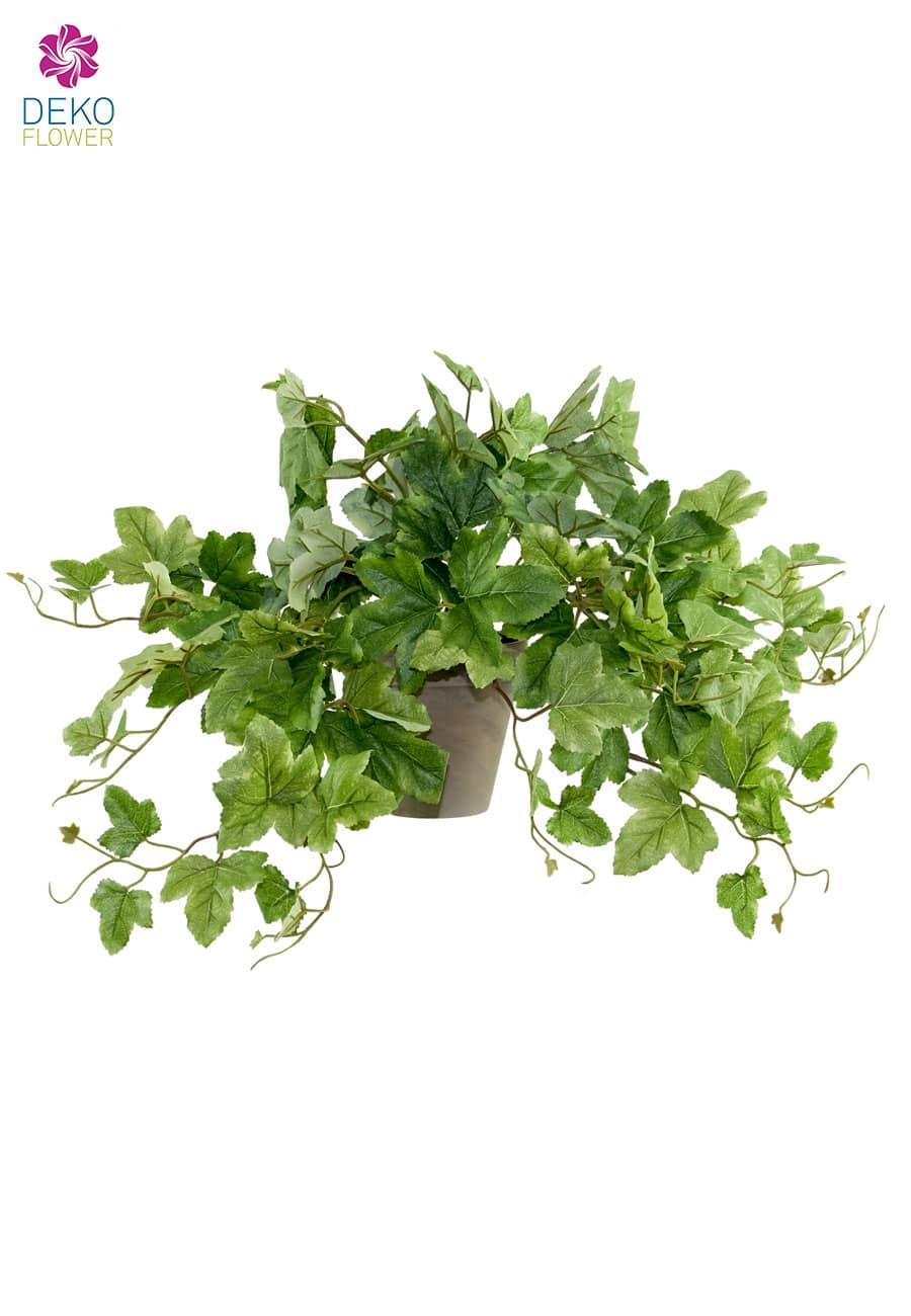 Künstliche Weinblatt Grünpflanze im Topf 55 cm
