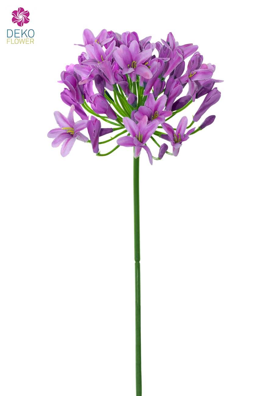 Künstliche Agapanthus Zweig lila 74 cm 3er Pack