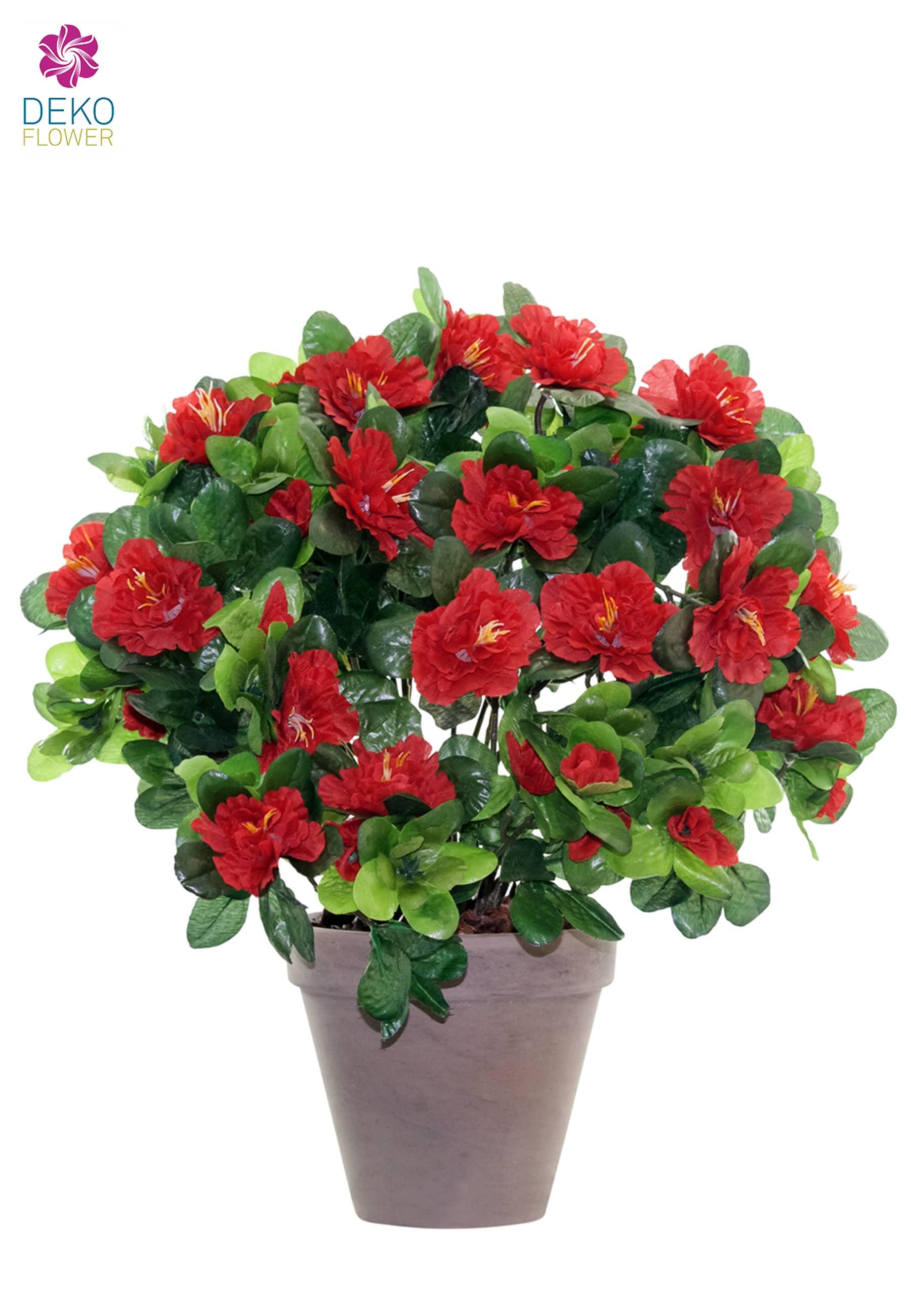 Künstliche Azaleen rot 37 cm