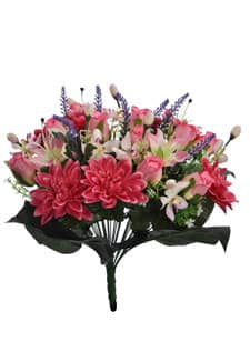 Künstlicher Blumenstrauß 50 cm pink
