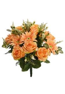 Künstlicher Blumenstrauß orange 42 cm