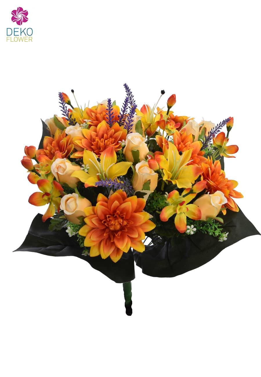 Künstlicher Blumenstrauß orange 50 cm
