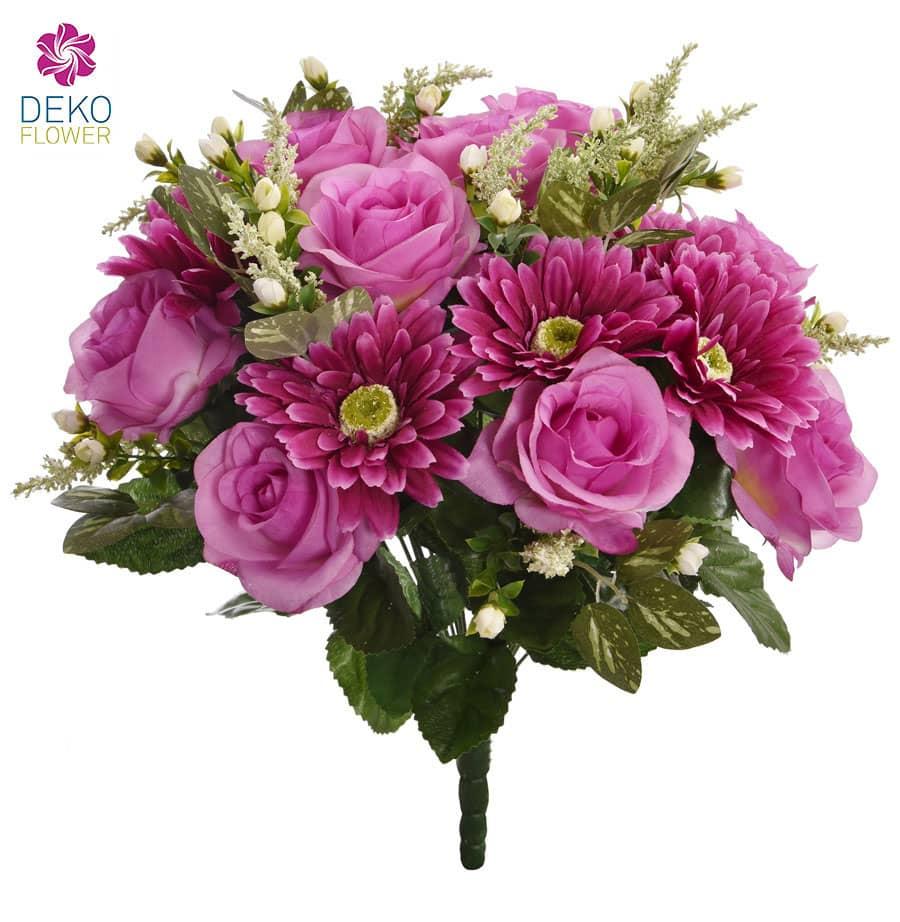 Künstlicher Blumenstrauß pink 42 cm