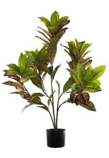 Künstlicher Croton Baum 95 cm grün rot
