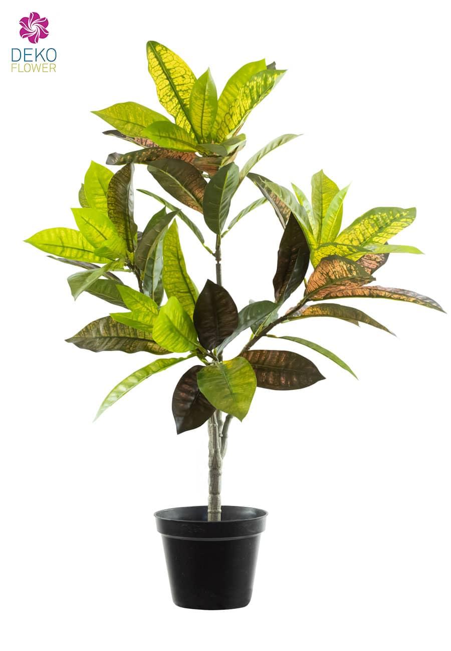 Künstlicher Croton Baum grün rot 65 cm