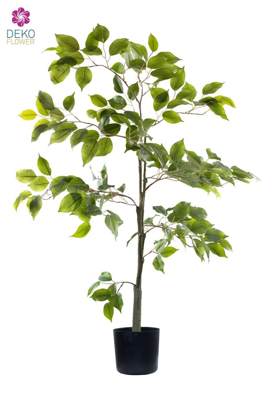 Künstlicher Ficus Baum grün 95 cm