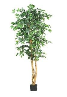 Künstlicher Ficus Benjamini grün ca. 190cm