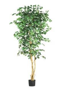 Künstlicher Ficus Benjamini Baum grün 220 cm