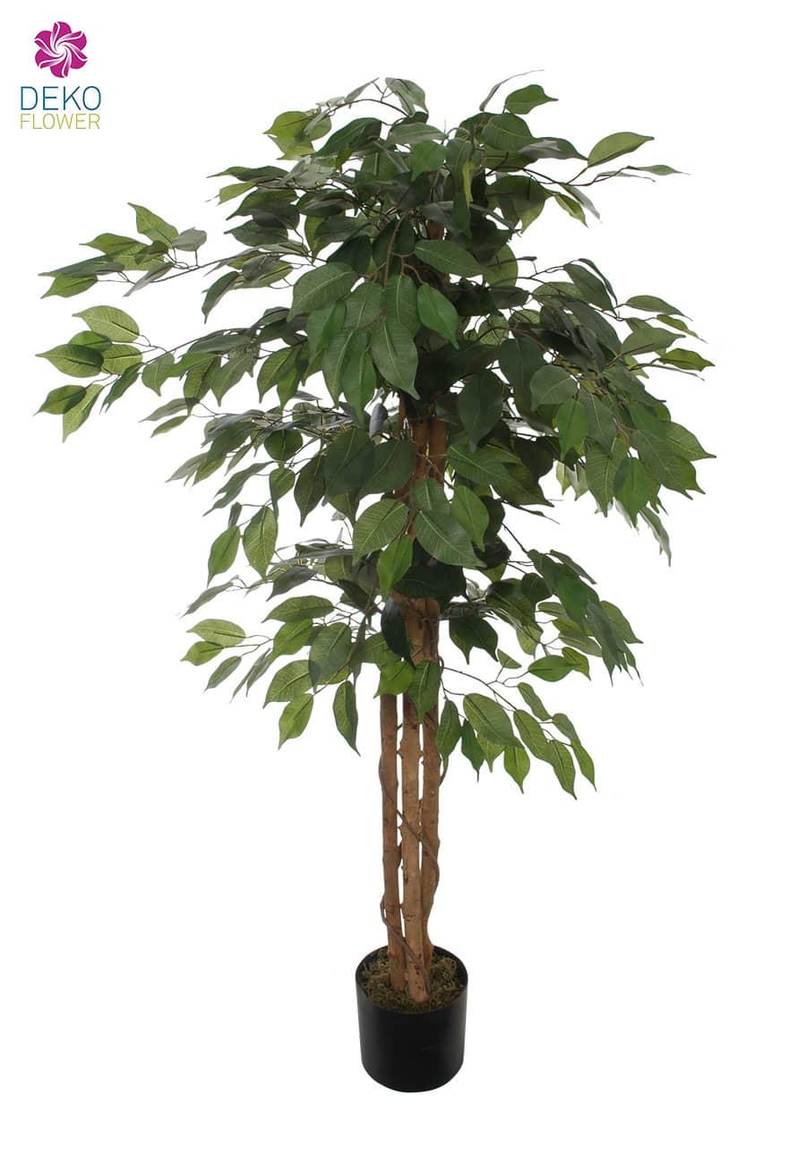 Künstlicher Ficus Benjamini grün 125 cm