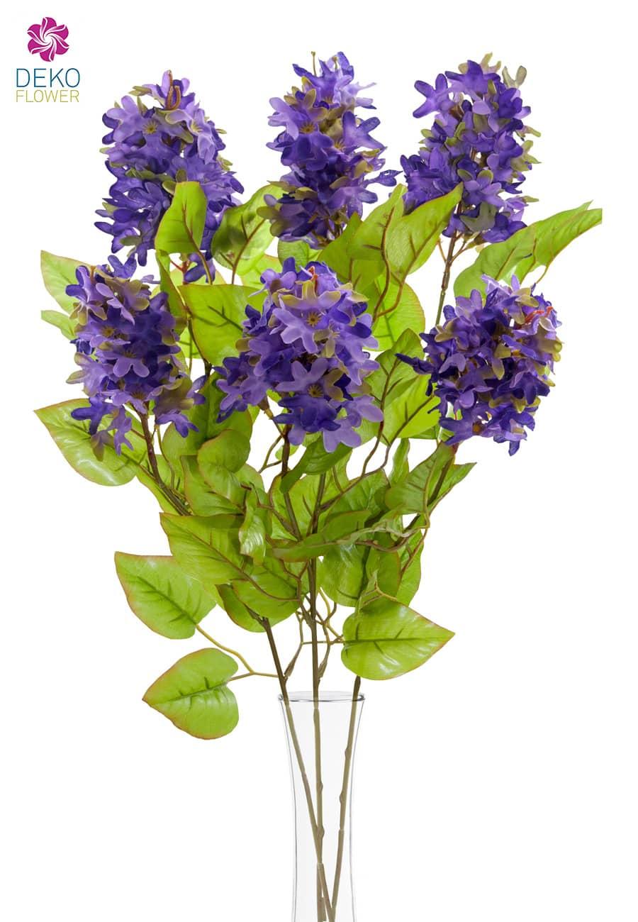 Künstlicher Flieder purpur 68 cm 3er-Pack