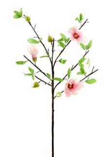 Künstlicher Magnolien Blütenzweig weiß pink 90 cm 3er Pack