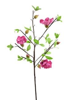 Künstlicher Magnolien Blütenzweig magenta 90 cm 3er Pack